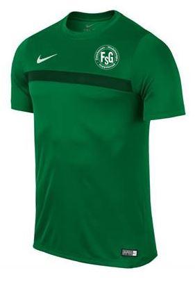 Nike Trainingsshirt Academy, Farbe: grün, mit FSG Logo, Größen: 116 – XXL, 19,90 Euro