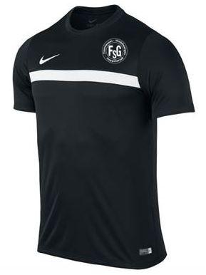 Nike Trainingsshirt Academy, Farbe: schwarz, mit FSG Logo, Größen: 116 – XXL, 19,90 Euro