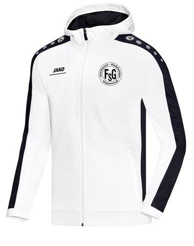 FSG Kapuzenjacke Jako,Farbe: weiß, mit FSG Logo, Größen: 116 - XXL, 39,90 Euro